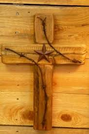 cross rustic wood u0026 barbed wire with star western decor