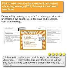 e learning strategy template e learning strategy guide and template interactive