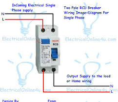 how to do 2 pole fixed rcd wiring for protection every one know