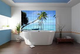 Tiled Wall Boards Bathrooms - bathroom polar bear image on bathroom tile board wall panel