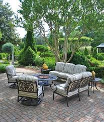 Patio Furniture Round Chateau By Hanamint Luxury Cast Aluminum Patio Furniture Round