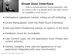 human interface design iphone human interface guidelines