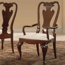 American Drew Cherry Grove Dining Room Set Traditional Splat Back Arm Chair By American Drew Wolf And