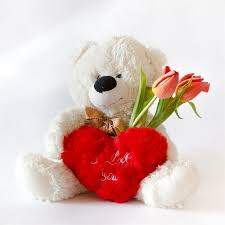 s day teddy white teddy for s day stock image image of mood