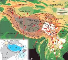 Map Of Nepal And Tibet by The Geological Evolution Of The Tibetan Plateau Science