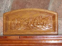 western decor stagecoach stagecoach wood carving western