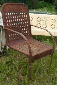 vintage 1940s 1950s metal lawn chair antique metal patio rocking