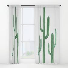 succulent window curtains society6