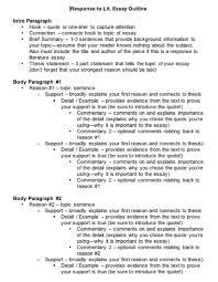 response essay outline write history essay 1 essay writing center