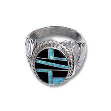 How To Make Inlay Jewelry - mens opal u0026 jet inlay ring rings jewlery