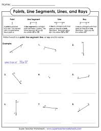 lines line segments rays geometry worksheets