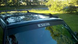 matte black jeep liberty jeep cherokee with vinyl windshield banner and cf customs decal