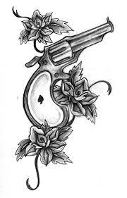 gun tattoo art and designs page 60