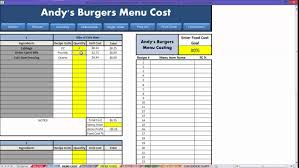 restaurant menu costing template professional sample templates