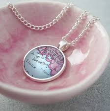 pink pendant necklace images Personalised map pendant necklace by ellie ellie jpg