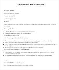 sports director resume template free samples examples u0026 format