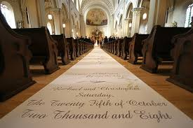 Aisle Runner Wedding Customized And Printed Aisle Runners