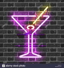 martini purple martini neon light stock photos u0026 martini neon light stock images