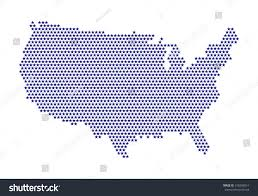 Map Of United States Of America by Digital Usa Map Stars Purple Color Stock Vector 318258014