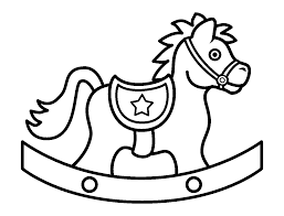 simple cowboy coloring pages color your own art baby shower