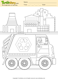 recycling coloring sheet turtle diary