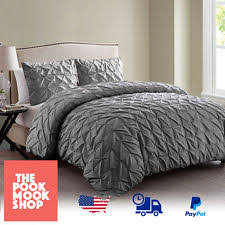 cathy sequin sparkle embroidered pintuck duvet cover quilt bedding