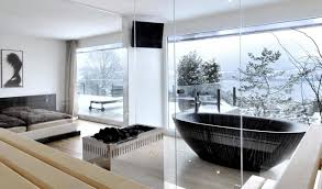 Clear Bathtub Freestanding Bathtub In The Bedroom U2013 No Clear Separation Of Bath