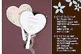Wedding Program On A Fan Wedding Favors Bridal Shower Favors Favor Idea