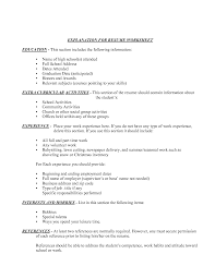 Samples Of Resumes For College Students by 59 Sample Resume Secondary Education Sample Application