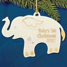 2017 lenox baby s elephant porcelain ornament