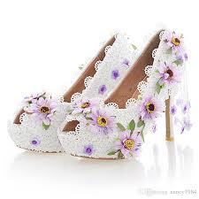 wedding shoes glasgow white lace flower high heel wedding shoes fashion beautiful women