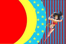 Free Printable Invitation Cards Wonder Woman Free Printable Invitations Oh My Fiesta For Geeks
