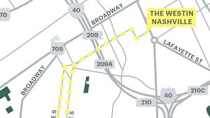 Map Running Route by Westin Workout The Westin Nashville