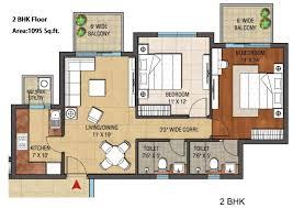 2bhk House Plans 100 2bhk Floor Plans Floorplan Prestige Temple Bells