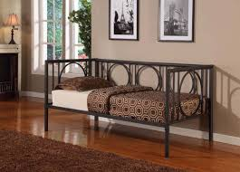 bedroom alluring texture black metal twin size day bed daybed