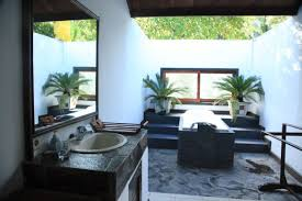 bathroom cool outdoor bathroom ideas with round shape white