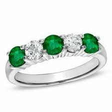 green engagement ring emerald may birthstone birthstones collections zales