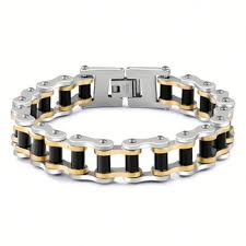 magnetic bracelet designs images Wholesale fashion designs boy black motorcycle gold and silver jpg