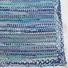 Low Profile Rug Braided Border Rug Everything Turquoise