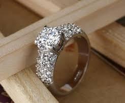 crystal diamond rings images 2018 wedding rings for women jewelry swarovski crystal 18k gold jpg