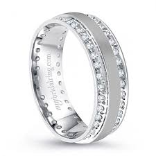 white gold mens wedding band dazzling channel set wedding band in 14k white gold http
