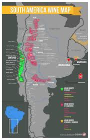 America Latina Map by South America Wine Regions Map South America Wine And Buckets