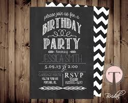 chalkboard birthday invitation birthday invitation elegant