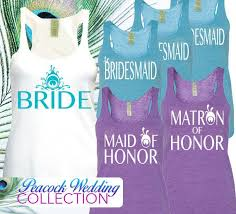 purple and turquoise wedding peacock wedding peacock bridal tank top peacock feather