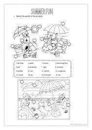 122 free esl summer worksheets