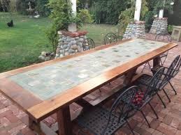 tile table top makeover learn how to build a tile top provence outdoor dining table free