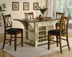 kitchen islands with tables attached kitchen island table with 4 chairs gallery 2017 for prepare 2