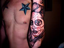 sugar skull sleeve picture at checkoutmyink com