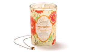 november birthstone jewelry giftcraft birthstone secret jewels 6oz candle jar november