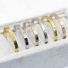 titanium steel love bracelet images Love bracelets screw bracelets for women stainless steel bracelets jpg